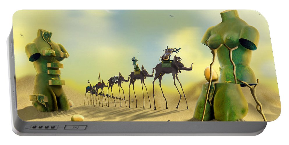 Surrealism Portable Battery Charger featuring the photograph Dali On The Move by Mike McGlothlen