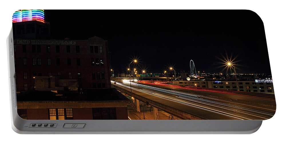 Dallas Texas Portable Battery Charger featuring the photograph Dallas West End by Jonathan Davison