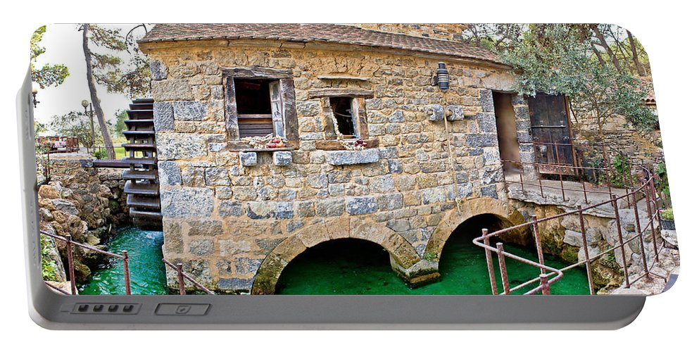 Mill Portable Battery Charger featuring the photograph Dalmatian Village Traditional Stone Watermill by Brch Photography