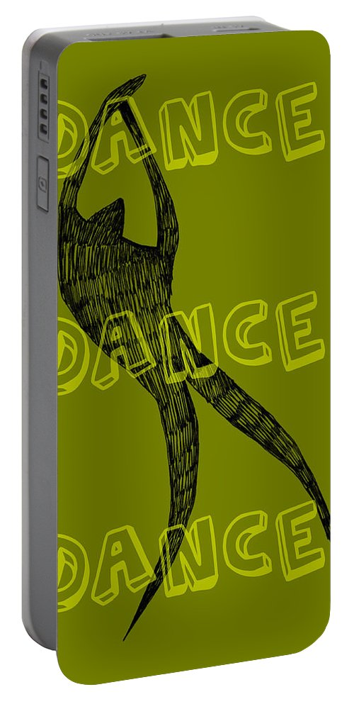 Text Portable Battery Charger featuring the digital art Dance Dance Dance by Michelle Calkins