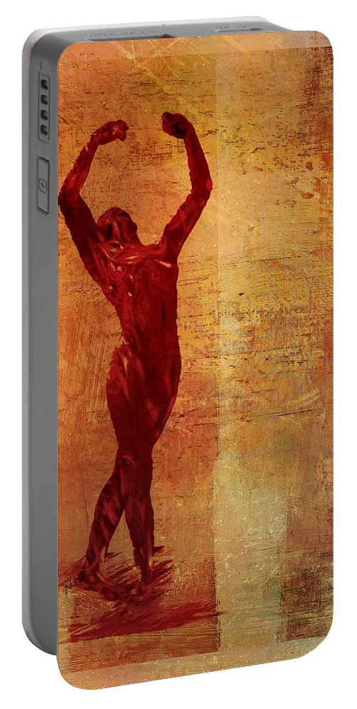 Dancer Portable Battery Charger featuring the digital art Dancer by David Ridley