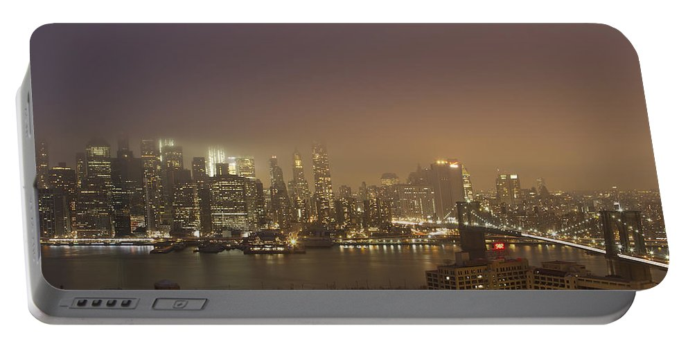 Mist Portable Battery Charger featuring the photograph Dancing In The Mist by Evelina Kremsdorf
