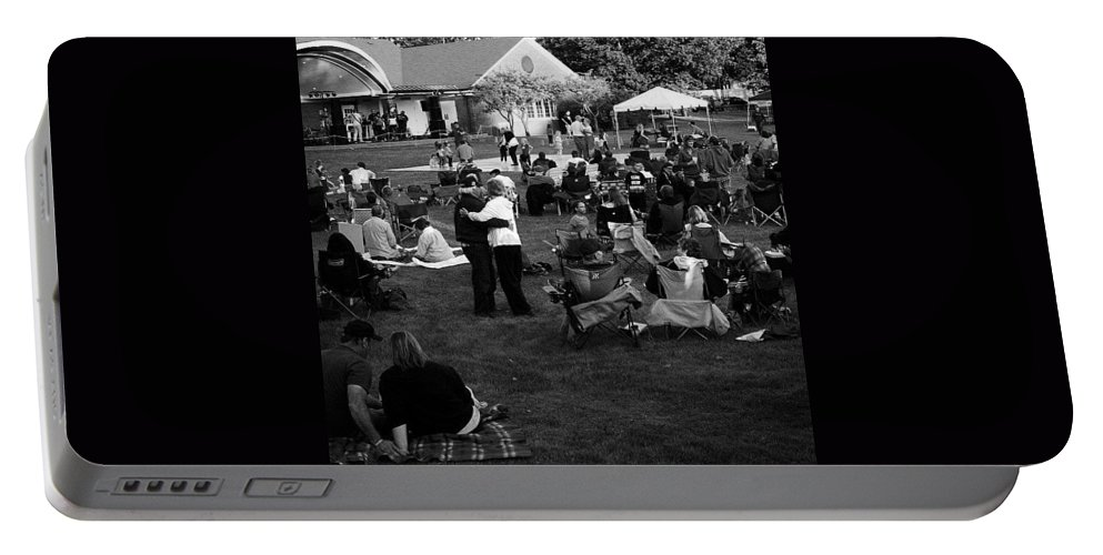 Illinois Portable Battery Charger featuring the photograph Dancing In The Park by Frank J Casella