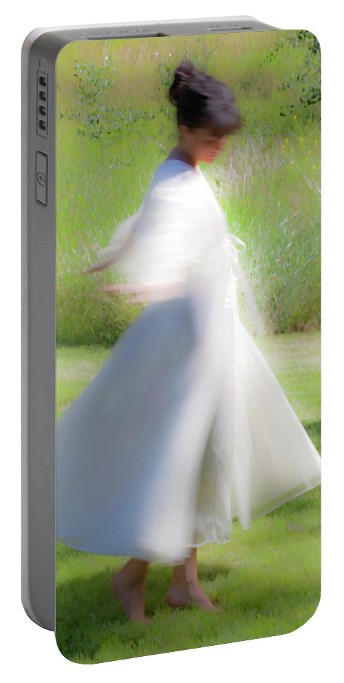 Impressionist Portable Battery Charger featuring the photograph Dancing In The Sun by Theresa Tahara