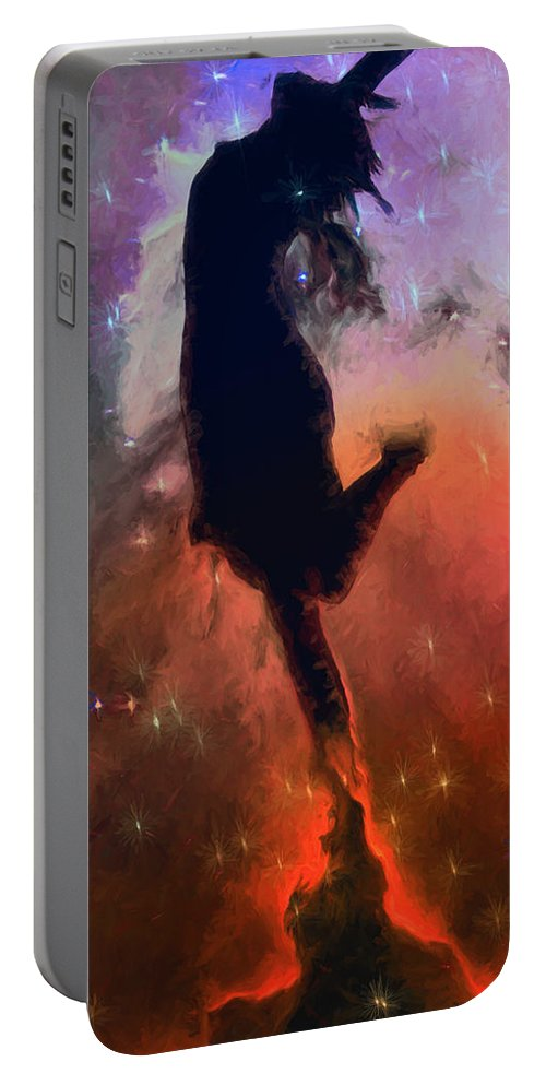Dance Portable Battery Charger featuring the mixed media Dancing With The Stars by John Haldane