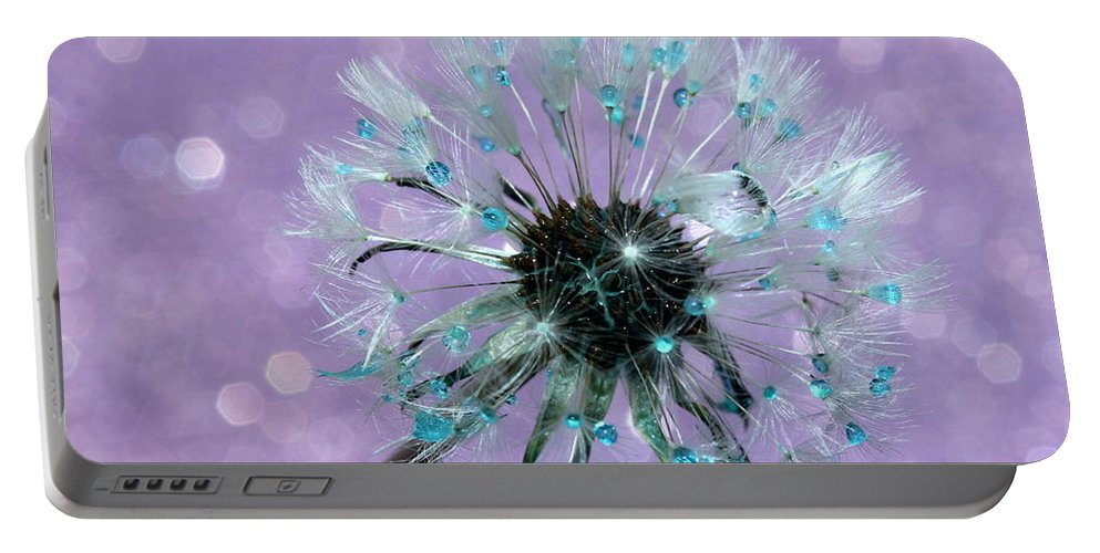 Dandelion Portable Battery Charger featuring the photograph Dandelion Dreams by Krissy Katsimbras