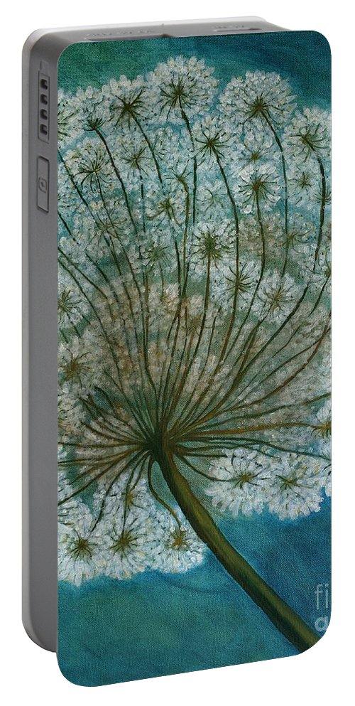 Dandelion Portable Battery Charger featuring the painting Dandelion Painting   Sold by Christiane Schulze Art And Photography