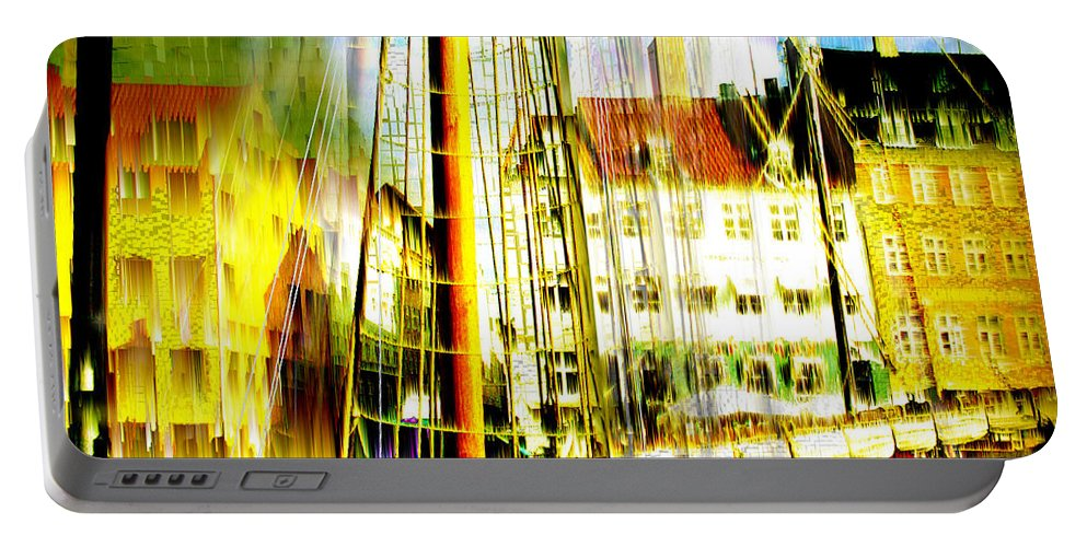 Cityscape Portable Battery Charger featuring the photograph Danish Harbor by Seth Weaver