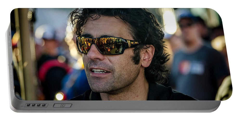 Dario Franchitti Portable Battery Charger featuring the photograph Dario Franchitti by David Morefield