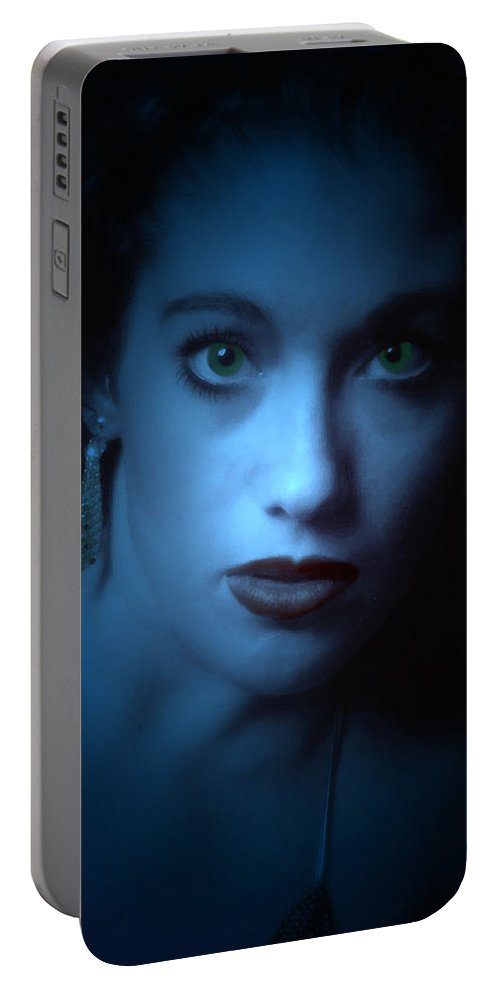 Portrait Portable Battery Charger featuring the photograph Dark And Mysterious by Teri Schuster