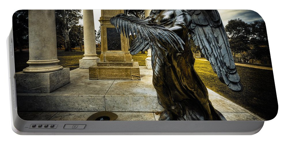 Angel Portable Battery Charger featuring the photograph Dark Angel by Wayne Sherriff