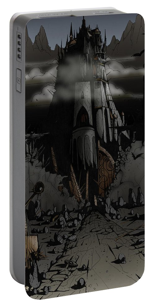 Usherwood Portable Battery Charger featuring the digital art Dark Castle by James Kramer