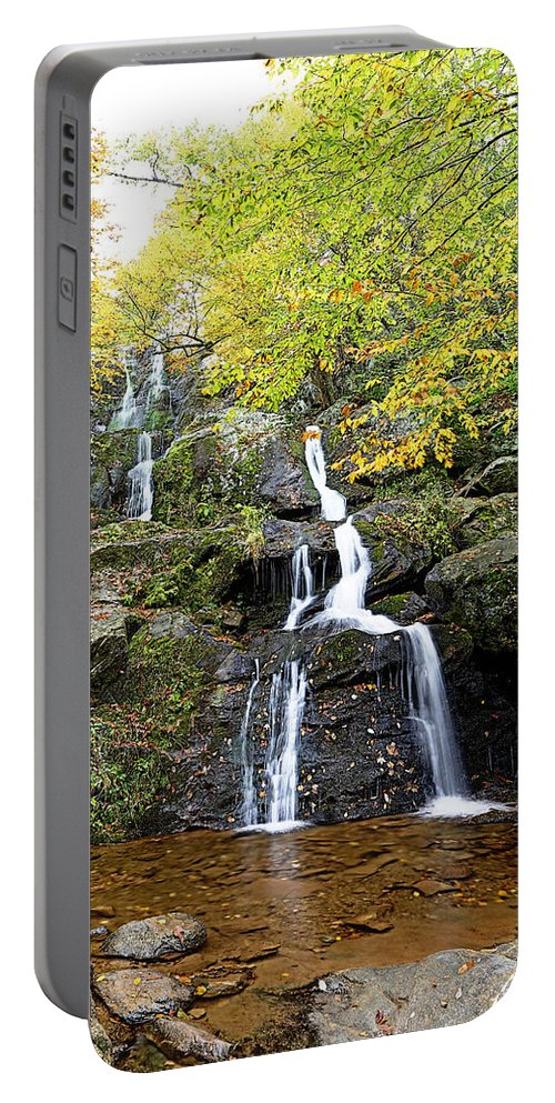 Metro Portable Battery Charger featuring the photograph Dark Hollow Falls by Metro DC Photography