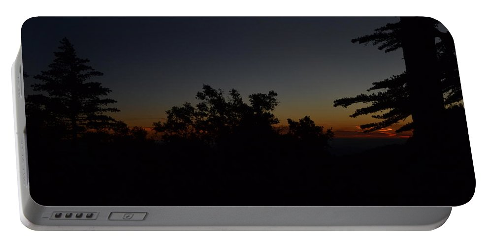 Mt San Jacinto Portable Battery Charger featuring the photograph Dark San Jacinto Sunset by Christine Owens
