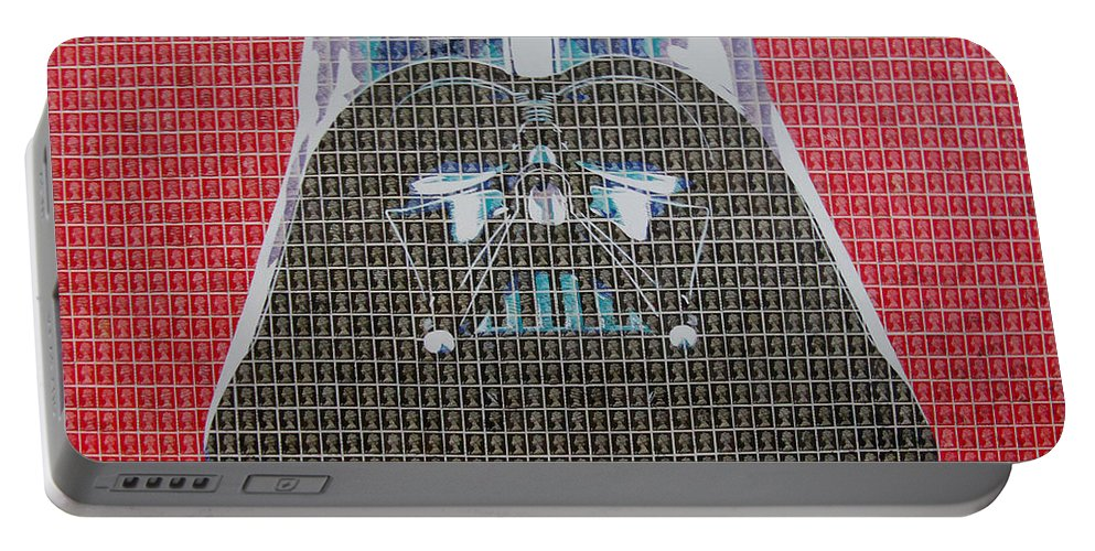 Darth Vader Portable Battery Charger featuring the painting Darkside by Gary Hogben