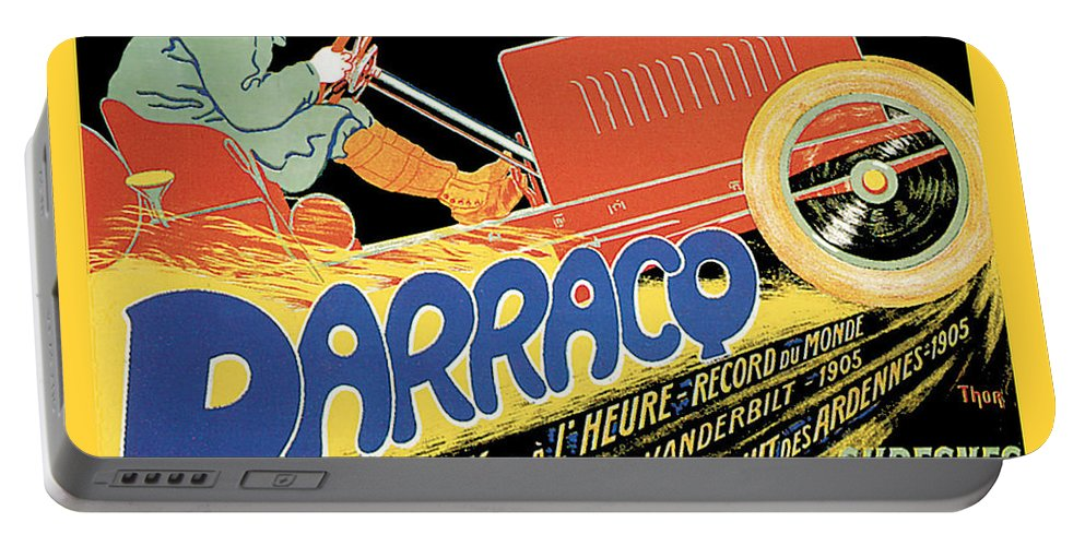 Vintage Automobile Ads And Posters Portable Battery Charger featuring the photograph Darracq Suresnes France by Vintage Automobile Ads and Posters