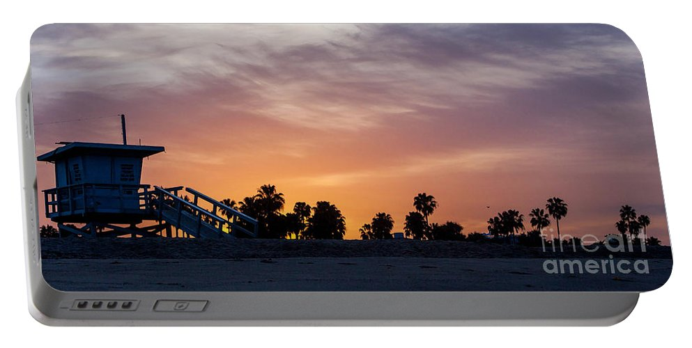 Venice Beach Portable Battery Charger featuring the photograph Dawn At Venice Beach by Art Block Collections