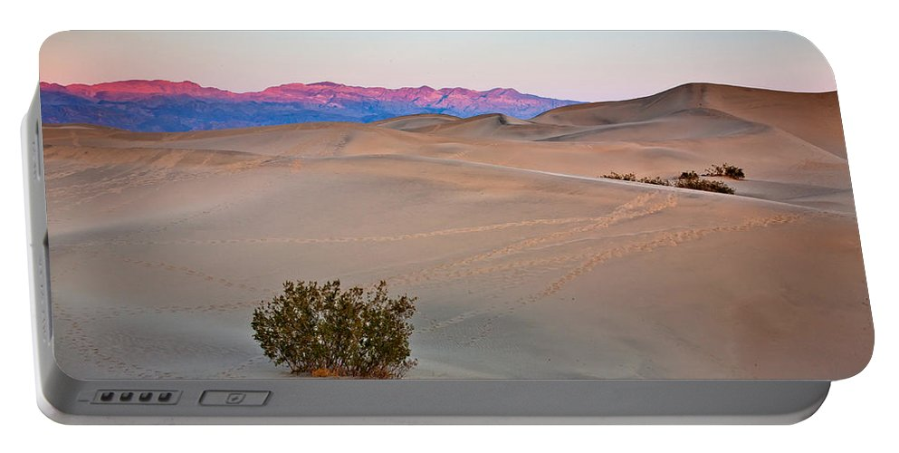 Mesquite Flats Dunes Portable Battery Charger featuring the photograph Dawn Dunes by Peter Tellone