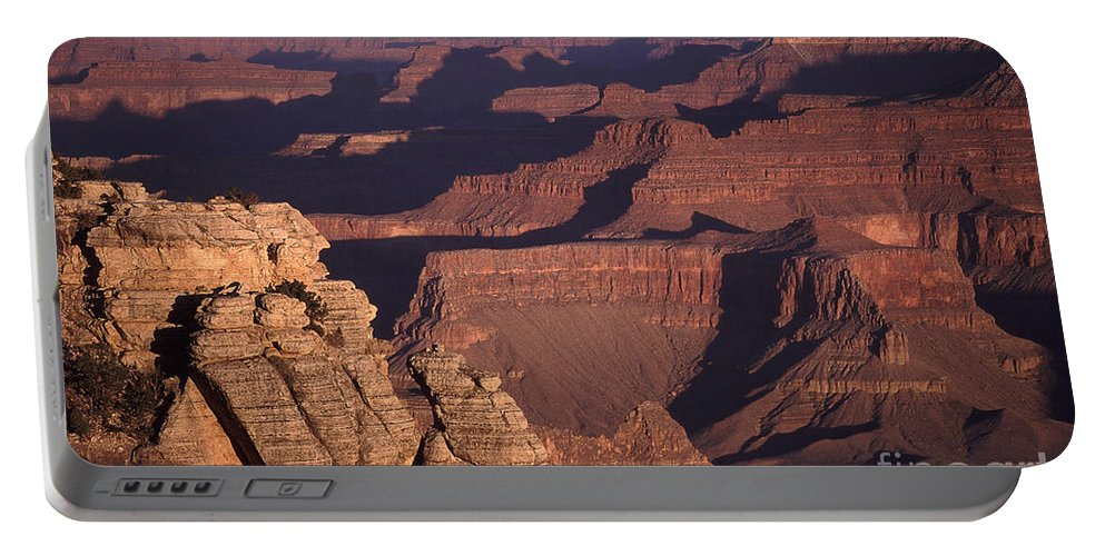 Eroded Portable Battery Charger featuring the photograph Dawn In The Grand Canyon by Liz Leyden