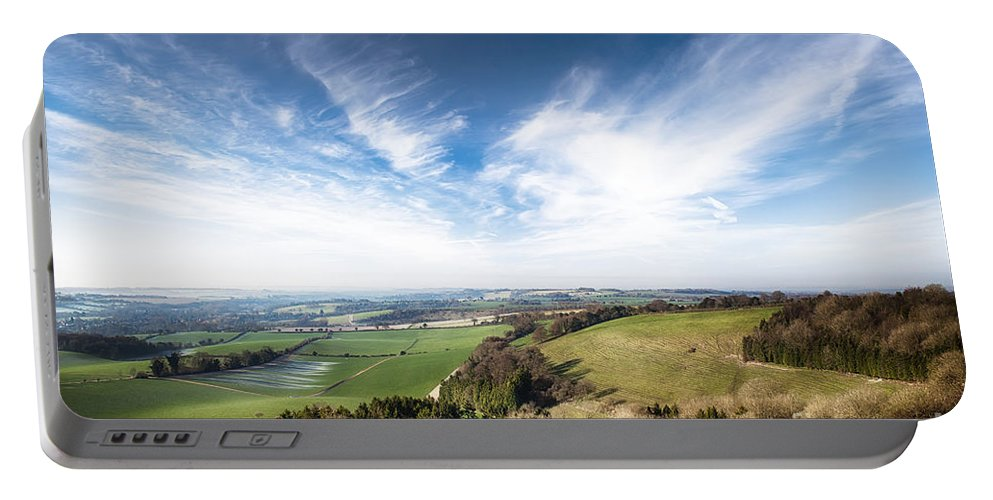 Landscape Portable Battery Charger featuring the photograph Dawn Landscape In Springtime by Simon Bratt Photography LRPS
