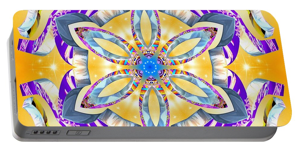 Dawning Reality Portable Battery Charger featuring the digital art Dawning Reality by Derek Gedney