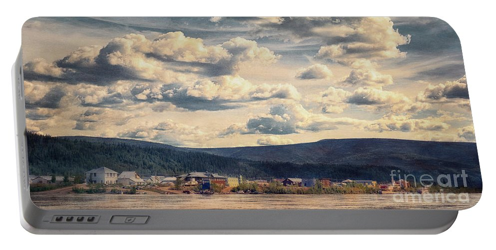 Klondike Portable Battery Charger featuring the photograph Dawson City by Priska Wettstein