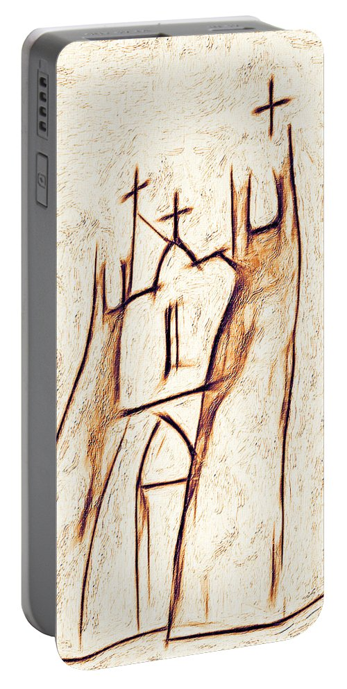 Church Portable Battery Charger featuring the photograph Day In Taos by Terry Fiala