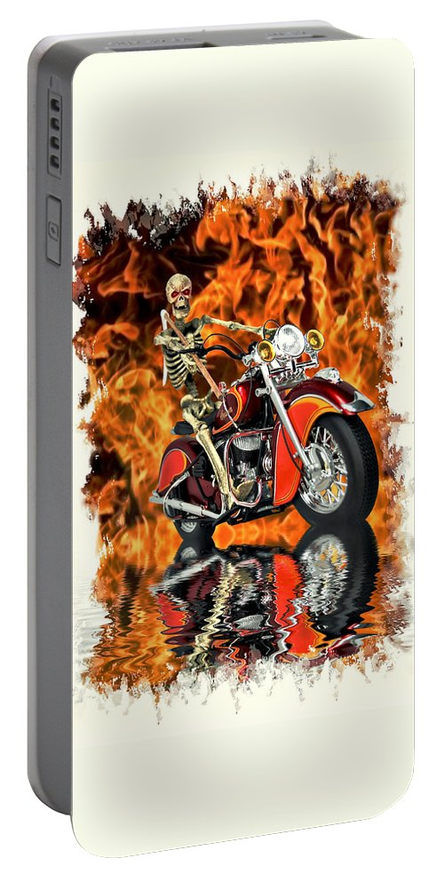 Reaper Portable Battery Charger featuring the photograph Day Of Reckoning by Steven Agius