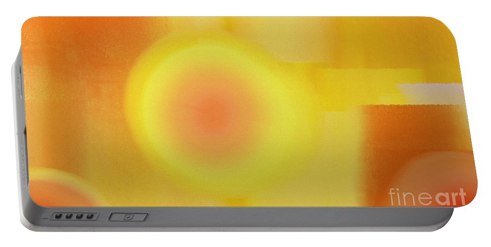 Andee Design Abstract Portable Battery Charger featuring the digital art Daybreak Midday And Dawn Abstract by Andee Design