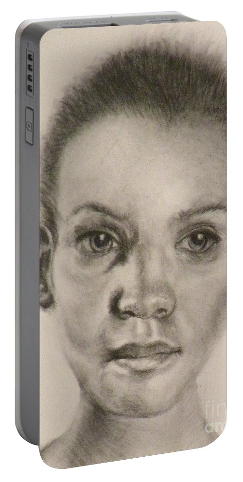 Charcoal Drawing Portable Battery Charger featuring the painting Daydreams Drawing by Susan A Becker