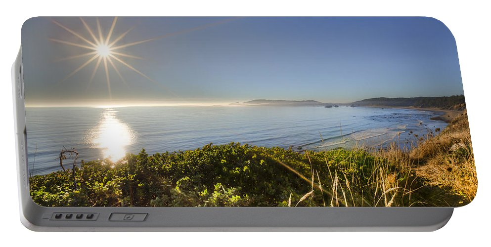Clouds Portable Battery Charger featuring the photograph Daylight Star by Debra and Dave Vanderlaan
