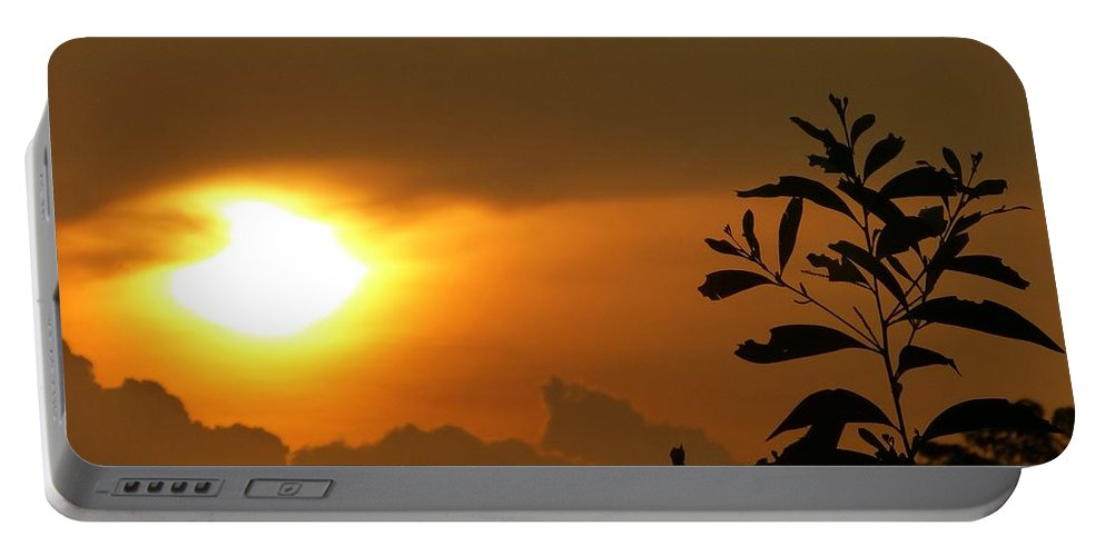 Sunset Portable Battery Charger featuring the photograph Day's Done My Sun by Marguerita Tan