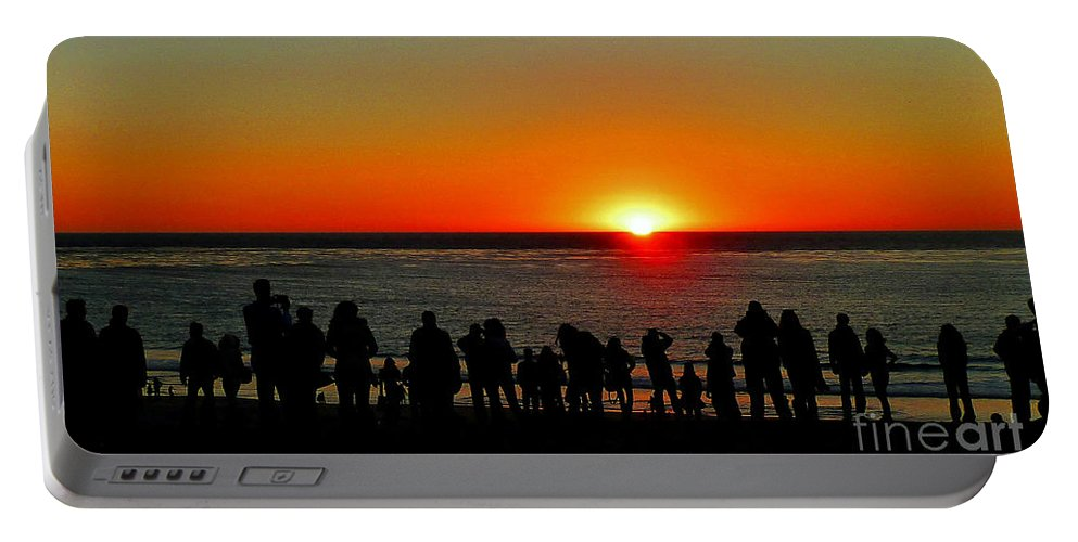 Sunset Portable Battery Charger featuring the photograph Days End by Kris Hiemstra