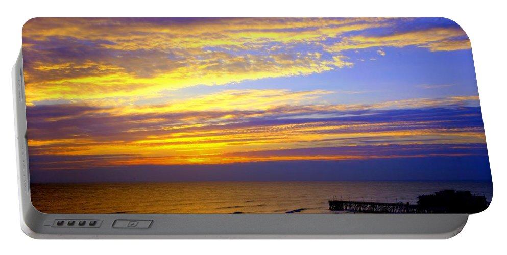 Daytona Portable Battery Charger featuring the photograph Daytona Beach by Karen Wiles
