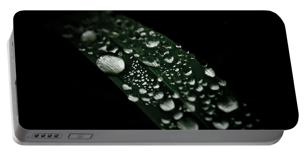 Droplets Portable Battery Charger featuring the photograph Dazzlin' by Shane Holsclaw