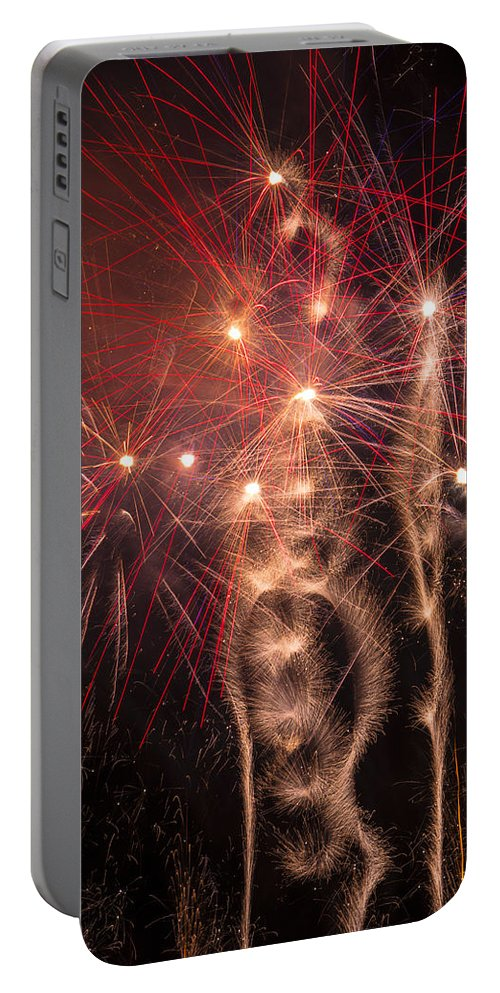 Dazzling Portable Battery Charger featuring the photograph Dazzling Fireworks by Garry Gay