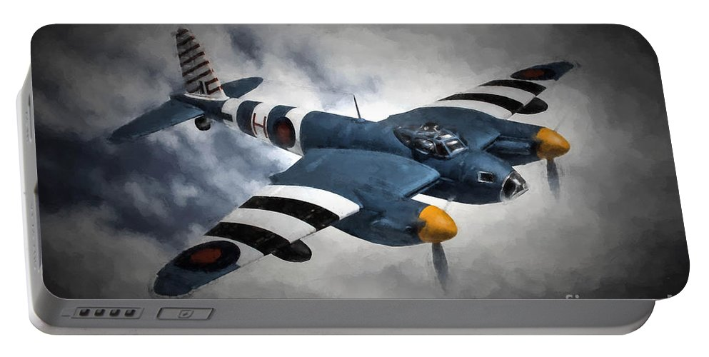 De Havilland Mosquito Pr.mk Xvi Portable Battery Charger featuring the digital art de Havilland Mosquito PR.Mk XVI by Tommy Anderson