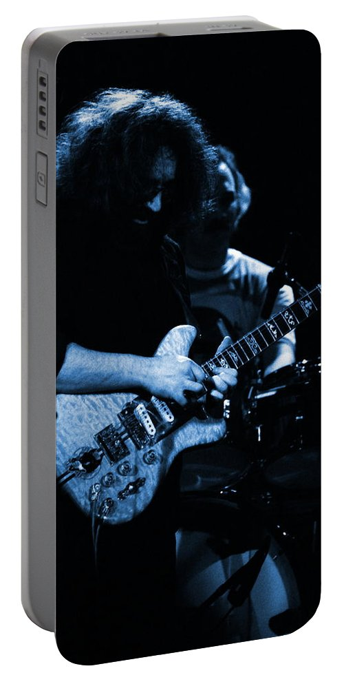 Grateful Dead Portable Battery Charger featuring the photograph Dead #11 In Blue by Ben Upham
