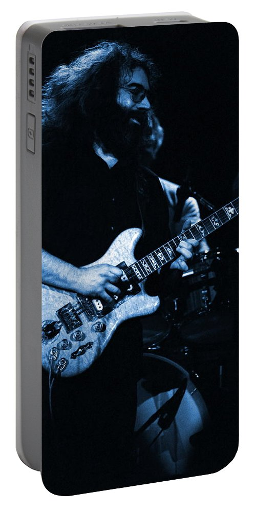 Grateful Dead Portable Battery Charger featuring the photograph Dead #13 In Blue by Ben Upham