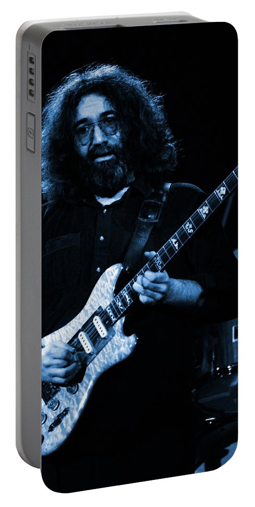 Jerry Garcia Portable Battery Charger featuring the photograph Dead #2 Crop B In Blue by Ben Upham