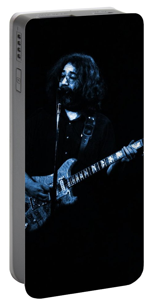Grateful Dead Portable Battery Charger featuring the photograph Dead #29 In Blue by Ben Upham