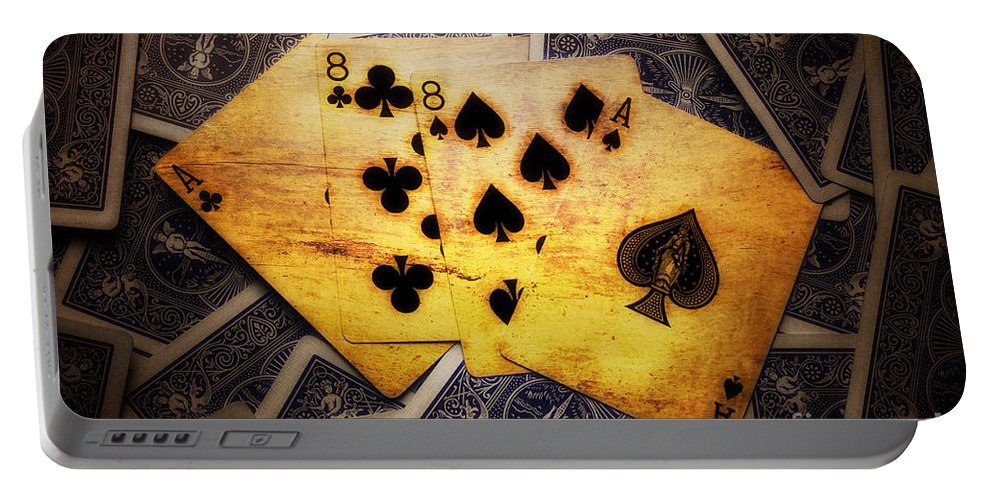 Dead Man's Hand Portable Battery Charger featuring the photograph Dead Man's Hand by Ms Judi