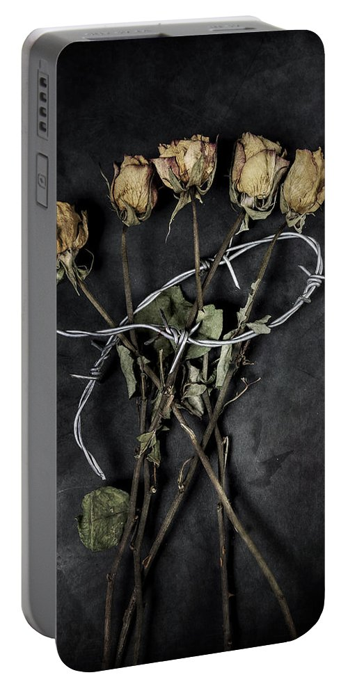 Wire Portable Battery Charger featuring the photograph Dead Roses by Joana Kruse