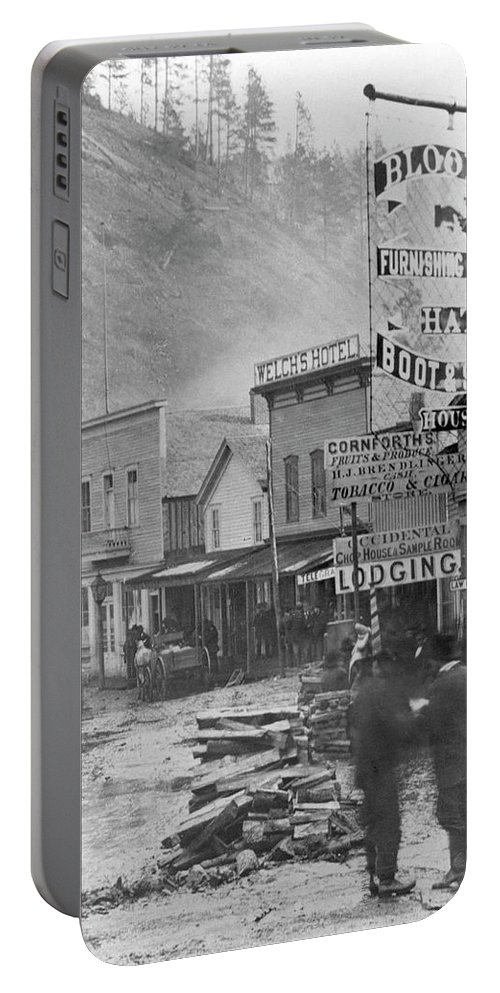 1877 Portable Battery Charger featuring the photograph Deadwood, South Dakota by Granger