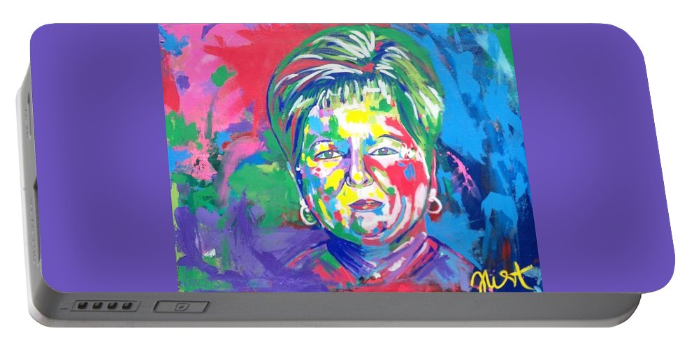 Portrait Portable Battery Charger featuring the painting Deborah Lybrand by Janice Westfall