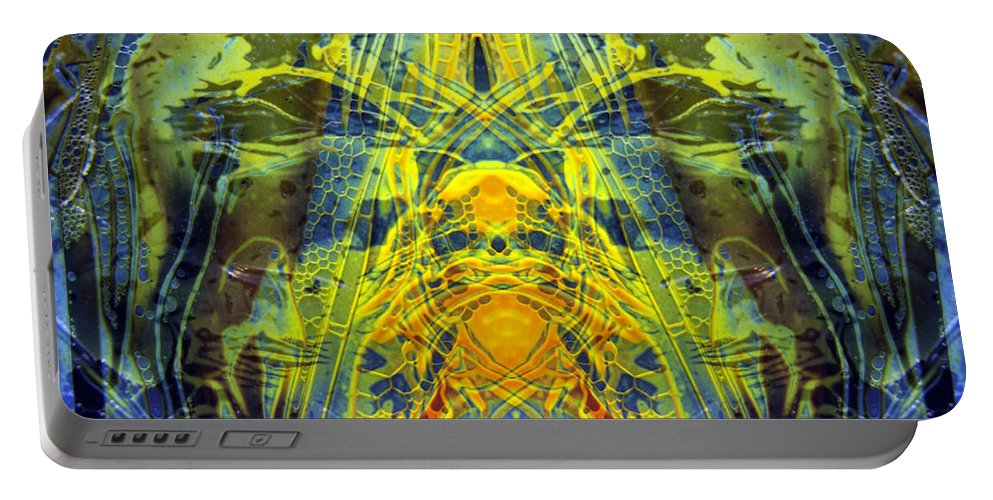 Surrealism Portable Battery Charger featuring the digital art Decalcomaniac Intersection 1 by Otto Rapp