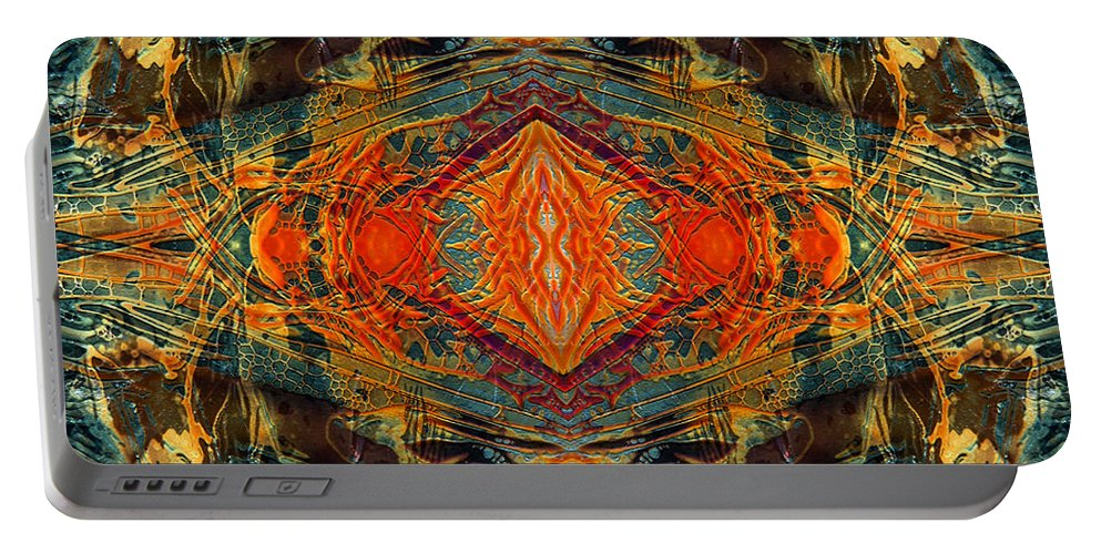 Surrealism Portable Battery Charger featuring the digital art Decalcomaniac Intersection 2 by Otto Rapp