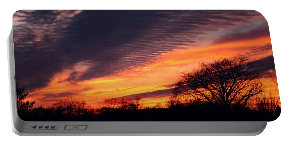 Sunset Portable Battery Charger featuring the photograph December Sunset by Dan McCafferty