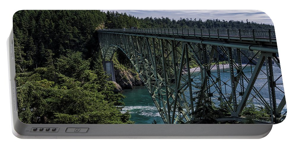 Joan Carroll Portable Battery Charger featuring the photograph Deception Pass by Joan Carroll