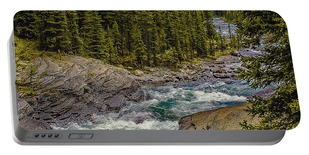 Americans Portable Battery Charger featuring the photograph Dechutes River Rapids Bend Oregon by Bob and Nadine Johnston